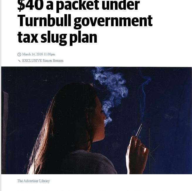 Cigarettes will cost 40 dollars a packet